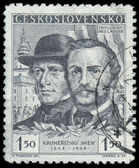 CZECHOSLOVAKIA - CIRCA 1948: A stamp printed in Czechoslovakia — Stock Photo