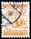 AUSTRIA - CIRCA 1925: A stamp printed in Austria, is depicted Fi — Stock Photo