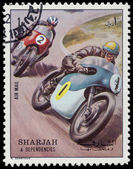 SHARJAH AND DEPENDENCIES - CIRCA 1972: stamp printed by Sharjah — ストック写真