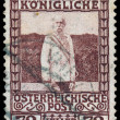 AUSTRIA - CIRCA 1908: a stamp printed in the Austria shows Franz — Stock Photo