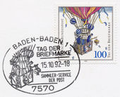 GERMANY - CIRCA 1992: a stamp printed in the Germany shows Ballo — Stock Photo