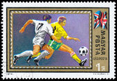 HUNGARY - CIRCA 1972: stamp printed by Hungary, shows football,  — Stock Photo
