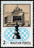 HUNGARY - CIRCA 1974: stamp printed in Hungary shows Chess machi — Stock Photo