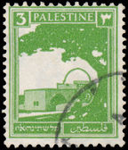 PALESTINE - CIRCA 1927: A stamp printed in Palestine shows Bethl — Stock Photo