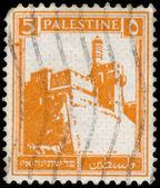 1927 年頃 - パレスチナ: パレスチナで印刷スタンプを citad を示しています — ストック写真