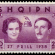 Постер, плакат: ALBANIA CIRCA 1938: postage stamp printed in Albania shows Wed