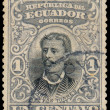 ECUADOR, CIRCA 1899 - Post stamp printed in Ecuador shows Luis V — Stock Photo #41827835