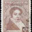 Постер, плакат: ARGENTINA CIRCA 1945: stamp printed by Argentina shows Bernar