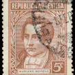 Постер, плакат: ARGENTINA CIRCA 1935: stamp printed by Argentina shows Marian