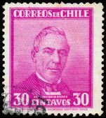 CHILE - CIRCA 1934: A stamp printed in Chile shows Jose Joaquim  — Stock Photo