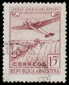 ARGENTINA - CIRCA 1946: a stamp printed in the Argentina shows P — Stock Photo