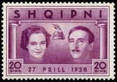 ALBANIA - CIRCA 1938: postage stamp printed in Albania shows Wed — Stock Photo
