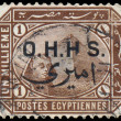 EGYPT - CIRCA 1888: A stamp printed in Egypt, showing the Great — Stock Photo