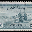 Stock Photo: CANAD- CIRC1946: stamp printed in Canadshows Combine