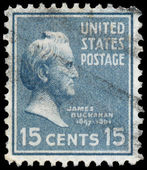 USA - CIRCA 1938: Postage stamps printed in USA, shows 15th Pres — Stock Photo