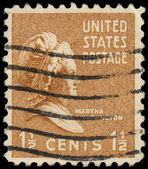 USA - CIRCA 1938: A stamp shows portrait Martha Dandridge Custis — Stock Photo