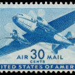USA-CIRCA 1941: A 30 cent United States Airmail postage stamp sh — Stock Photo #42024183