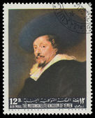 YEMEN - CIRCA 1967: stamp printed by Yemen, shows Self-Portrait  — Stock Photo
