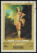 FUJEIRA - CIRCA 1972: stamp printed by Fujeira, shows a Painting — Stock Photo