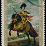 Постер, плакат: YEMEN CIRCA 1968: stamp printed by Yemen shows The Prince Bal