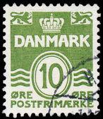 Denemarken - omstreeks 1921: een stempel gedrukt in het denemarken, beeldt wa — Stockfoto