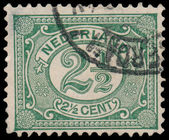 NETHERLANDS - CIRCA 1899: A stamp printed in the Netherlands, sh — Stockfoto