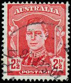 марку, напечатанную в австралии показывает короля георга vi — Стоковое фото
