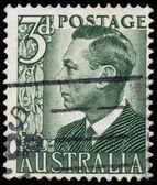 Stamp printed in Australia shows King George VI — Stok fotoğraf