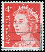 Timbre imprimé en Australie montre un portrait de la Reine elizabeth i — Photo