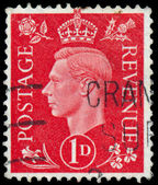 Stamp printed in Australia shows King George VI — Stock Photo