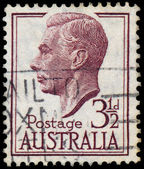 Stamp printed in Australia shows King George VI — Foto de Stock