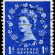 Stamp printed in Great Britain shows Queen Elisabeth — Stock Photo #44486165