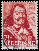 Stamp printed in Netherlands shows Admiral Michiel Adrianszoon D — Stock Photo