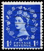 Francobollo stampato in gran bretagna dimostra regina elisabeth — Foto Stock