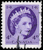 Stamp printed by Canada, shows Queen Elizabeth II — Stock fotografie