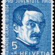 Stamp printed in the Switzerland shows Pro Juventute — Stock Photo
