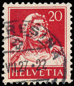 Stamp printed in Switzerland shows William Tell — Stock Photo