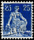 Stamp printed by Switzerland, shows Helvetia — Stock Photo