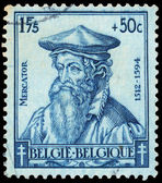 Stamp shows Mercator — Foto de Stock