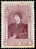 Stamp shows image of Carolus Audax — Stock Photo