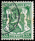 Stamp shows Lion of Belgium — Stock Photo