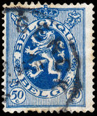 Stamp shows Lion of Belgium — Stock fotografie