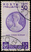 Stamp shows Medallion with Horace — Foto Stock