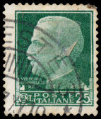 Stamp shows portrait of King Victor Emmanuel III — Stock Photo