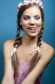 Portrait of a smiling flirtation woman — Stock Photo