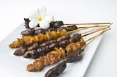Thai traditional kitchen - chickens barbecue — Stock Photo