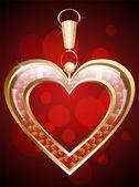 подвеска в форме сердца клубничный — Cтоковый вектор