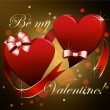 Be my Valentine! — Vector de stock