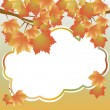 Background with maple branches - Vektorgrafik