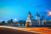 White Russian Orthodox Church — Stock Photo
